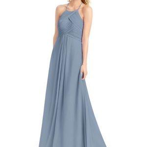Azazie Ginger Dusty Blue Dress Size 2
